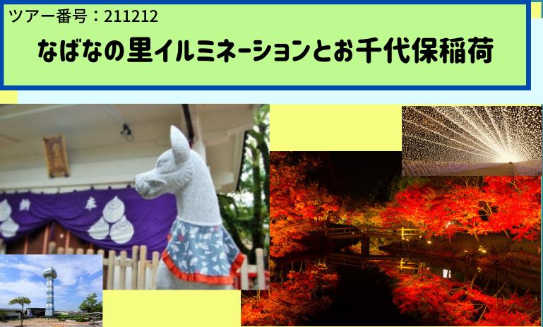 12月12日(日) なばなの里イルミネーションとお千代保稲荷